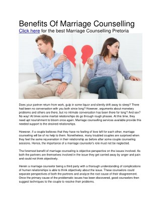 Marriage Counselling Pretoria