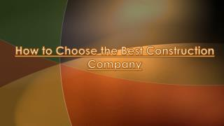 Steps for Choosing the Best Turnkey Construction Company