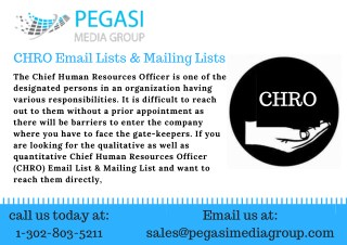 CHRO Email Lists & Mailing Lists
