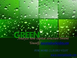 Analyze how capital structure Invent Youself/tutorialoutletdotcom