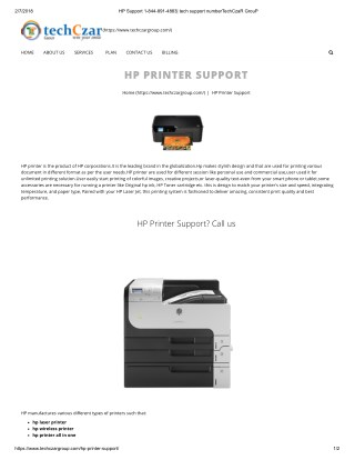 Easy Way to tech support hp printer customer service 1844-891-4883