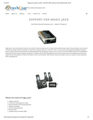 magic jack customer service 1844-891-4883