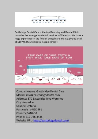 Emergency Dental Services in Waterloo