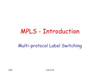 MPLS - Introduction