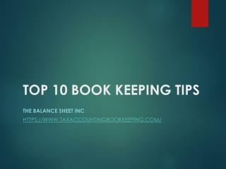 Top Ten Bookkeeping Tips