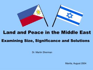 Land and Peace in the Middle East