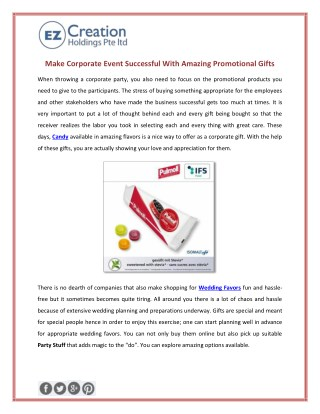 Make Corporate Event Successful With Amazing Promotional Gifts