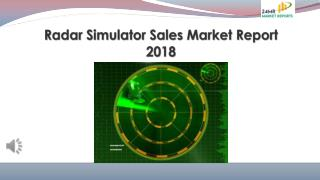 Radar Simulator Sales Market Report 2018
