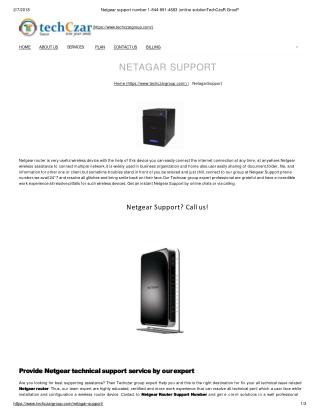 netgear customer service 1844-891-4883 tech help