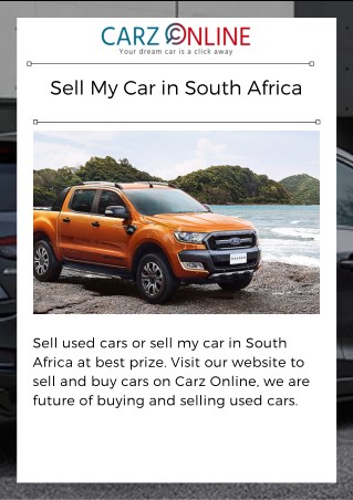Sell My Car in South Africa