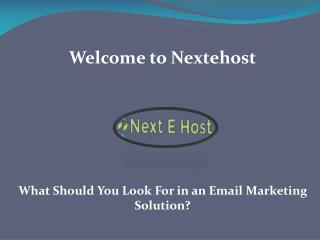 best email marketing solutions, Email marketing solutions- Nextehost