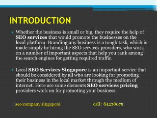 Best SEO service company in singapore.