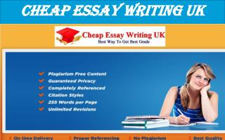Cheap Essay Writing UK - Best Assignment Writing Services