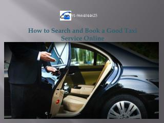 How to Search and Book a Good Taxi Service Online