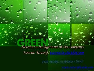 Develop a background of the company Invent Youself/tutorialoutletdotcom