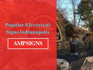 Popular Electrical Signs Indianapolis