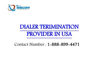 Dialer Termination Provider company in USA