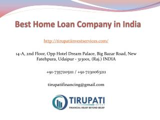 Best Home Loan Company in India