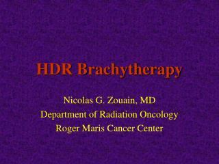 HDR Brachytherapy