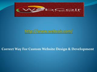 Correct Way For Custom Website Design & Development