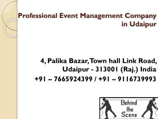 Professional Event Management Company in Udaipur
