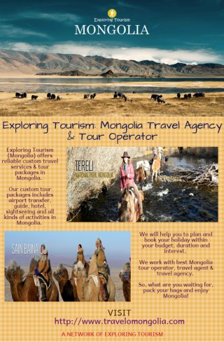 Exploring Tourism: Mongolia Travel Agency & Tour Operator