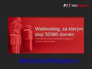 Webhosting Websupport.cz