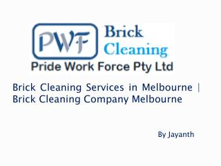 Brick Cleaning Services in Melbourne | Brick Cleaning Company Melbourne