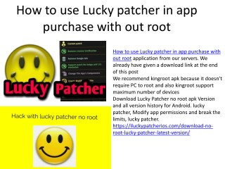 lucky patcher no root download latest version