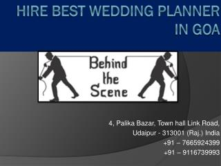 Hire Best Wedding Planner in Goa