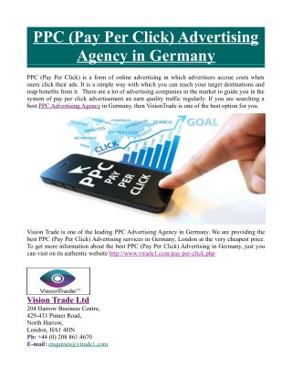 PPC (Pay Per Click) Advertising Agency in Germany