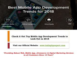 4 Mobile App Development Trends to Look out for in 2018