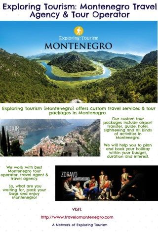 Exploring Tourism: Montenegro Travel Agency & Tour Operator