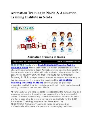 Animation Training Center Noida