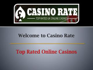Top Rated Online Casinos - Casino Rate