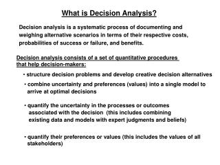 What is Decision Analysis?