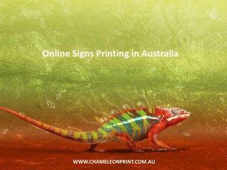 Online Signs Printing in Australia - Chameleon Print Group