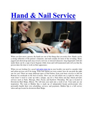 Nail Salons Near Me - Nail Art Studios | The Hidden Spa