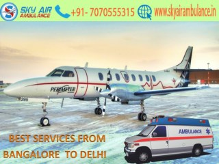 Full ICU Set Up by Sky Air Ambulance from Bangalore to Delhi