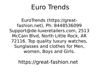 EuroTrends 2513 McCain Blvd, North Little Rock, AR 72116