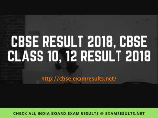 CBSE Result 2018, Central Board of Secondary Education (CBSE) CBSE Class 10, Class 12 Results 2018