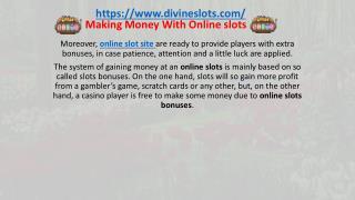 Making Money With Online slots In UK