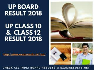 UP Board Result 2018: High School (Class 10) & Intermediate (Class 12), upresults.nic.in
