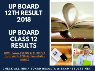 UP Board 12th Result 2018, UP Board Class 12 Results, upresults.nic.in