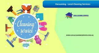 Vacuuming - Local Cleaning Services