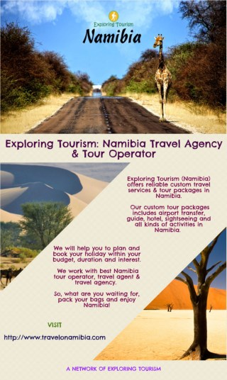Exploring Tourism: Namibia Travel Agency & Tour Operator