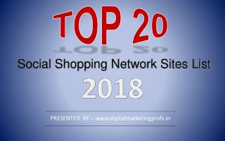 Top 20 Free High DA Social Shopping Network Sites list 2018