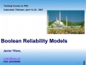 Boolean Reliability Models
