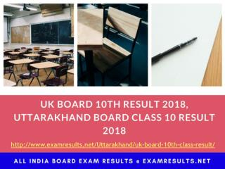 UK Board 10th Result 2018, Uttarakhand Board Class 10 Result 2018, uaresults.nic.in