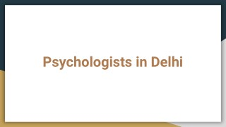Psychologist in Delhi - Book Instant Appointment, Consult Online, View Fees,  Feedbacks | Lybrate